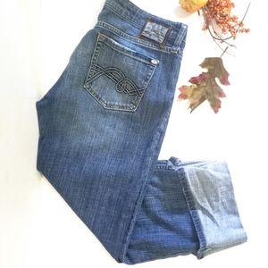 Mavi Jeans Blue Dark Wash Montreal Miriam Crop 32